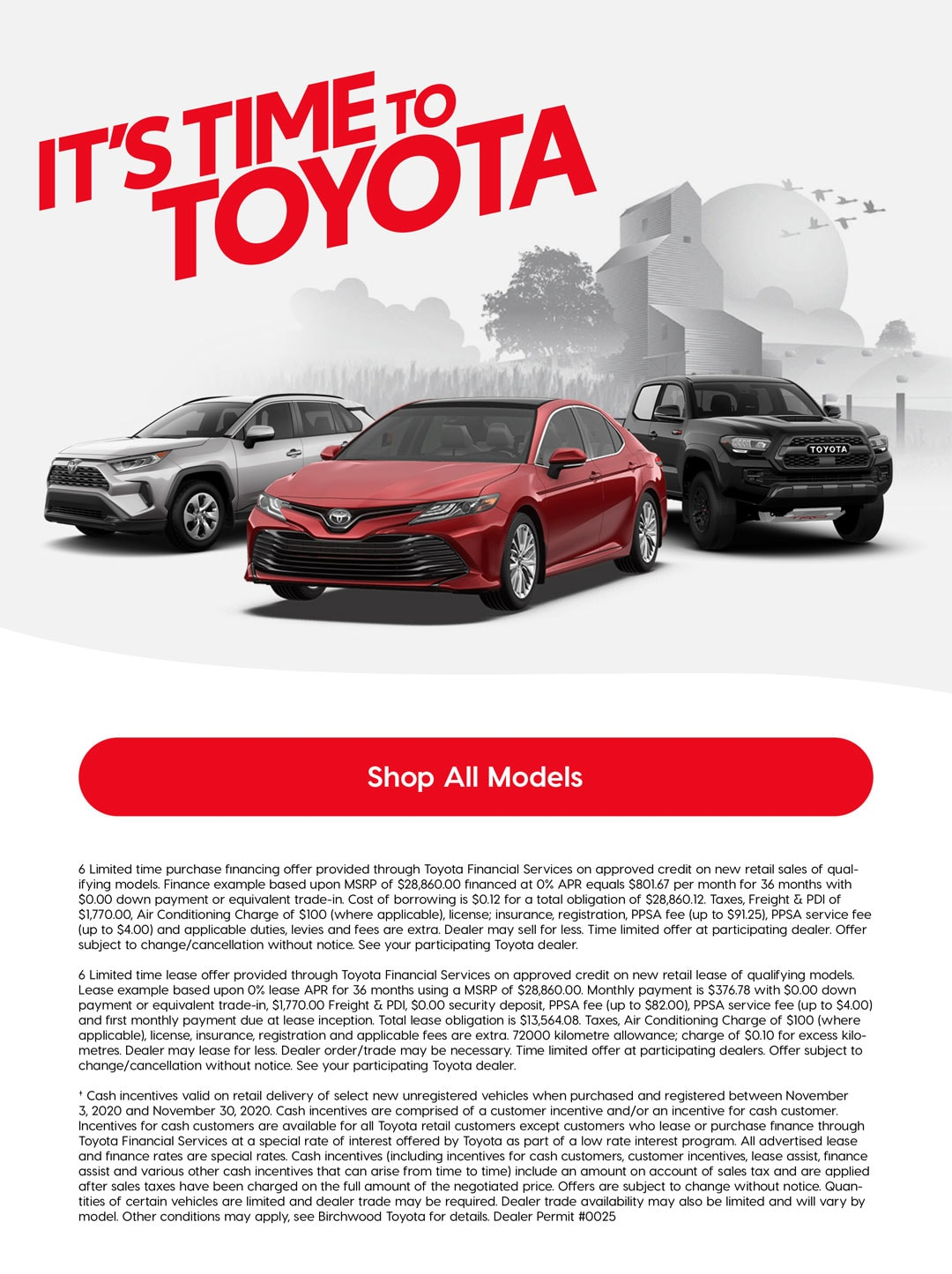 It's Time To Toyota Birchwood Toyota Offer