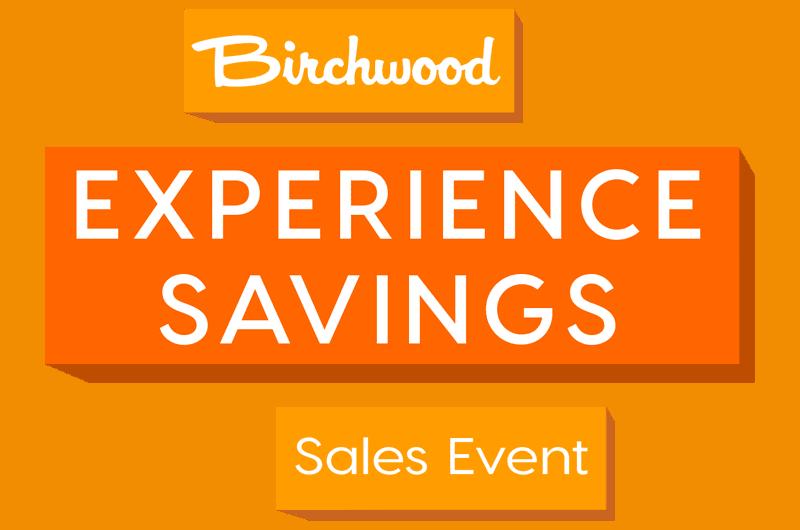 Experience Savings Sales Event